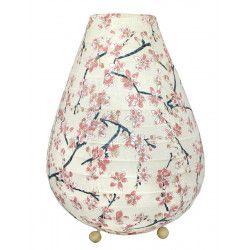 Lampion chevet tissu Sakura