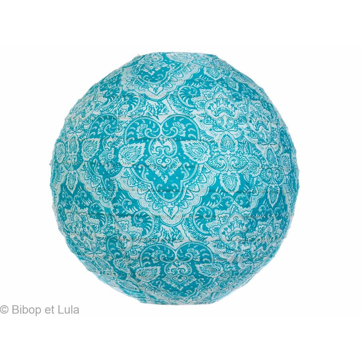Lampion tissu Summer blue