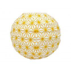 Lampion tissu boule japonaise mini rond jaune jaune moutarde