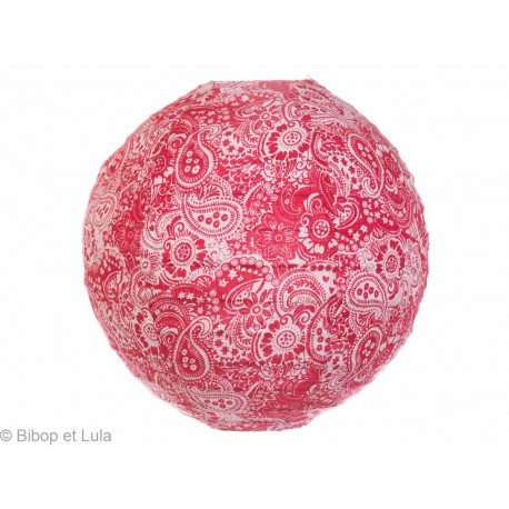 Lampion tissu Summer red