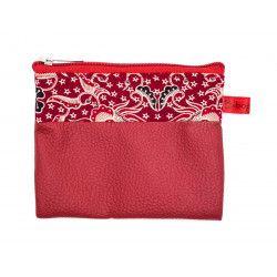 Petit porte-monnaie vegan zippé rouge