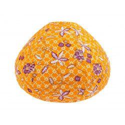 Lampion tissu boule japonaise goutte jaune tournesol