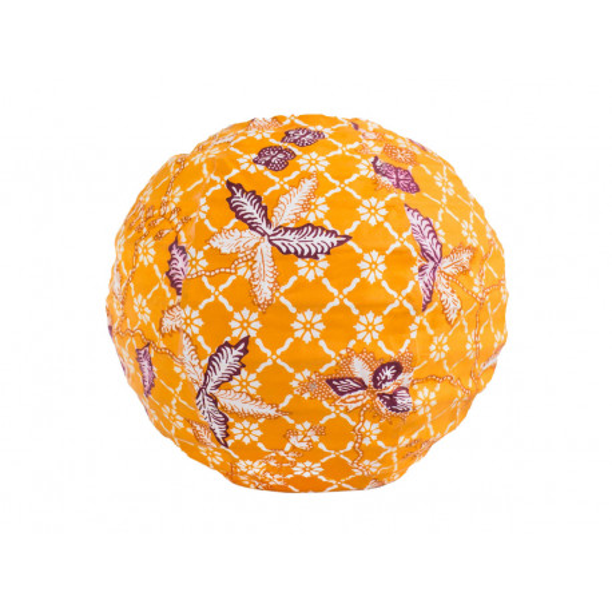 Lampion tissu boule japonaise mini rond jaune tournesol