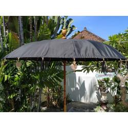 Parasol balinais toile polyester noire