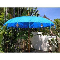 Parasol balinais toile polyester bleue