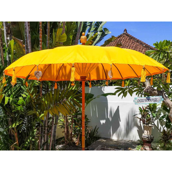 Parasol balinais toile polyester jaune