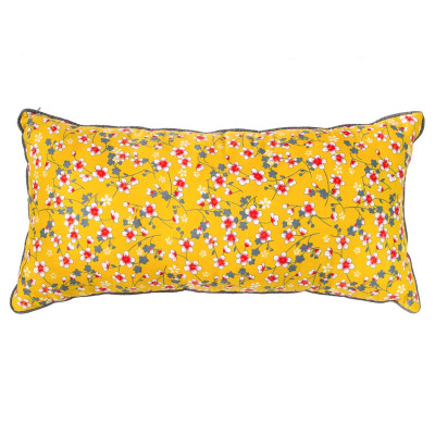 Coussin rectangle Akiko moutarde