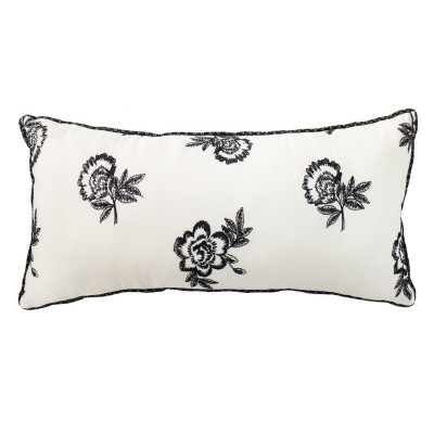 Coussin rectangle Black roses