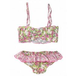 Bikini coton enfant Isumi framboise
