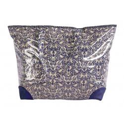 Grand sac cabas étanche tissu bleu
