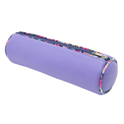 trousse ronde école enfant violet et fleurs