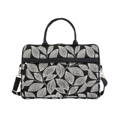 Sac ordinateur portable White leaves