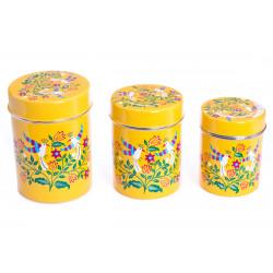 Boite inox peinte à la main Jaipur