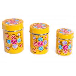 Boite inox peinte à la main Suraya