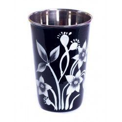 Grand verre inox peint à la main Bhiwandi