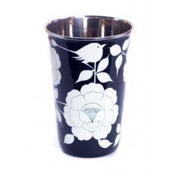 Grand verre inox peint à la main Gaya