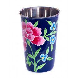 Grand verre inox peint à la main Sambra