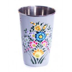 Grand verre inox peint à la main Tilvalli