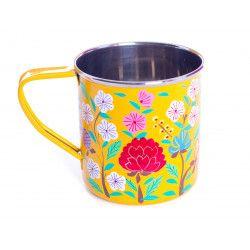 Tasse inox peinte à la main Suraya