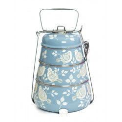 Lunch box inox peinte à la main Gaya grey