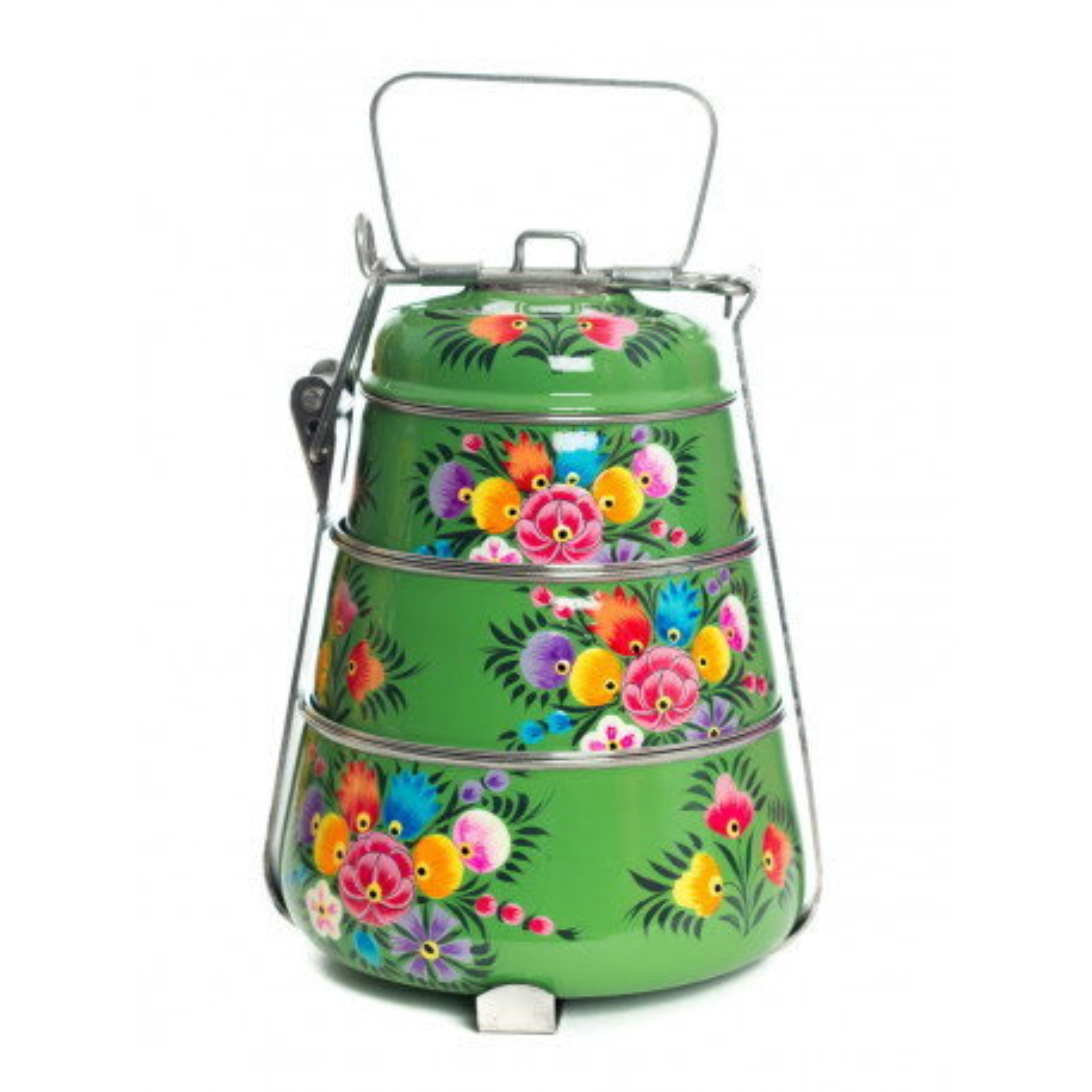 Lunch box inox peinte à la main Suraya
