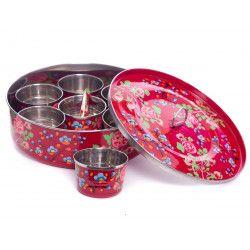 Boite à épices inox peinte à la main Bareli