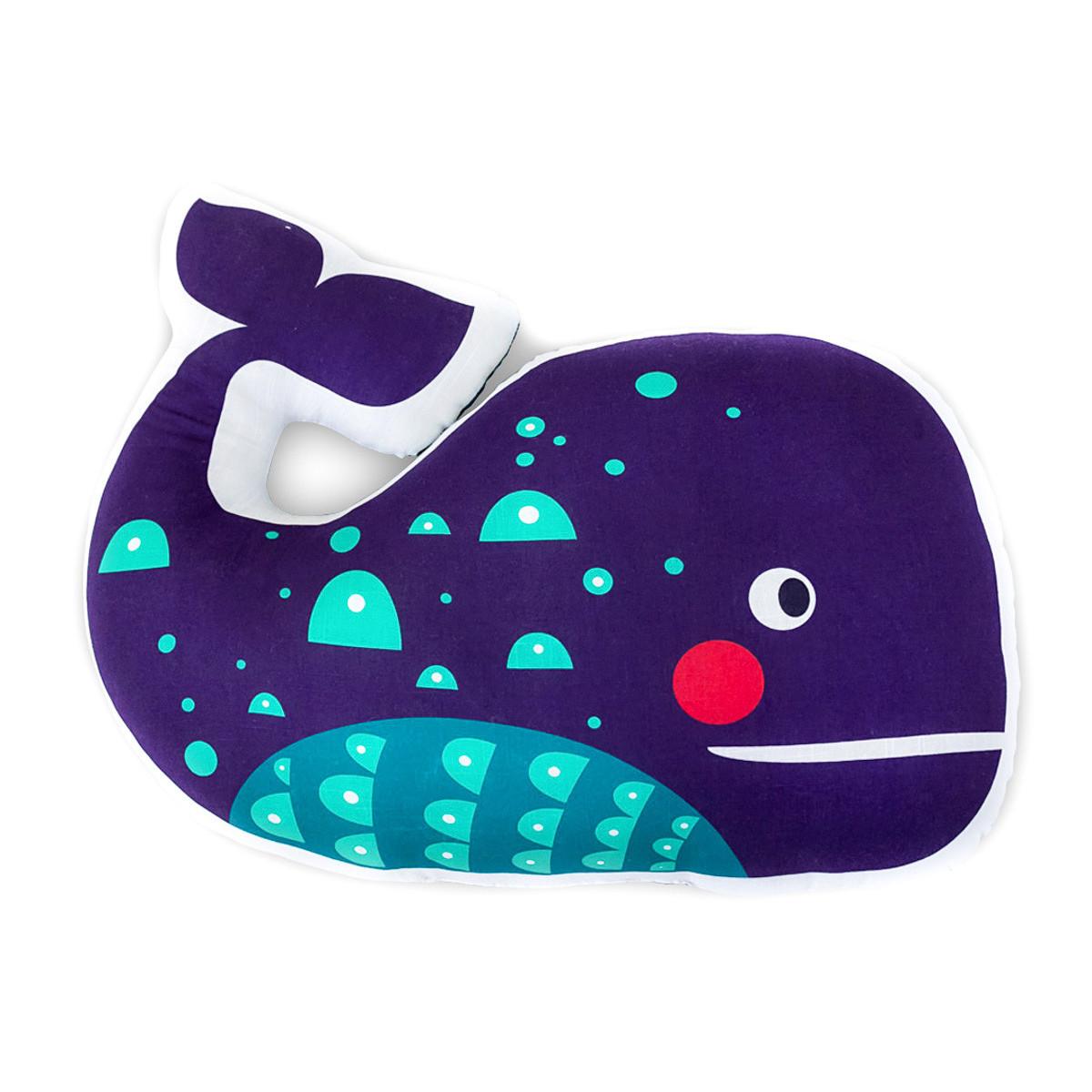 Coussin baleine violette