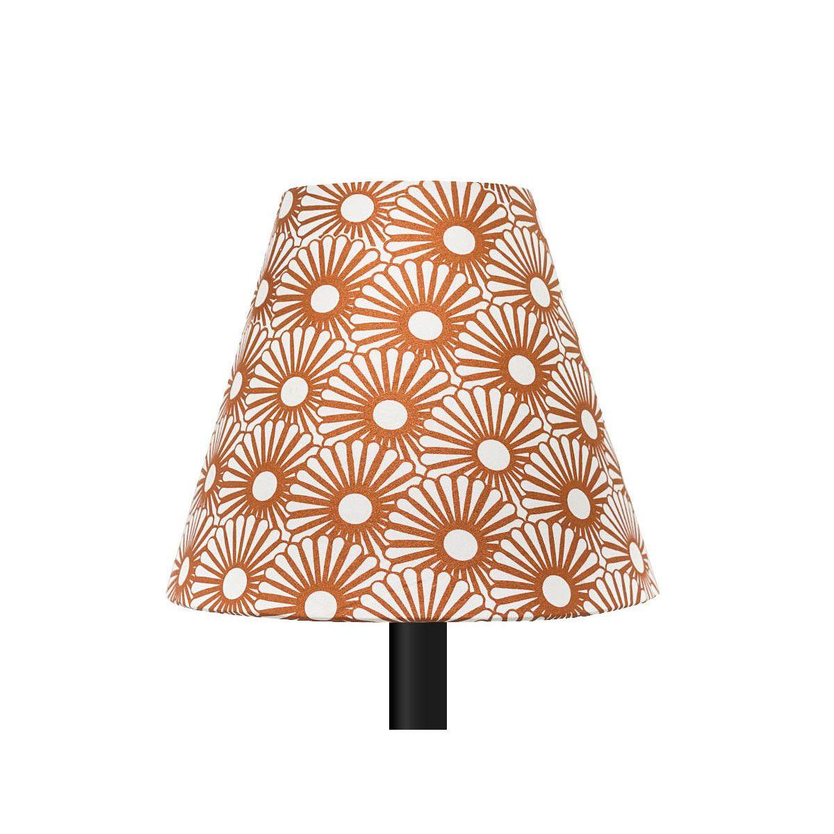 Petit abat-jour conique lampe motifs cuivre bronze
