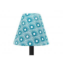 Petit abat-jour conique lampe motifs bleu pétrole