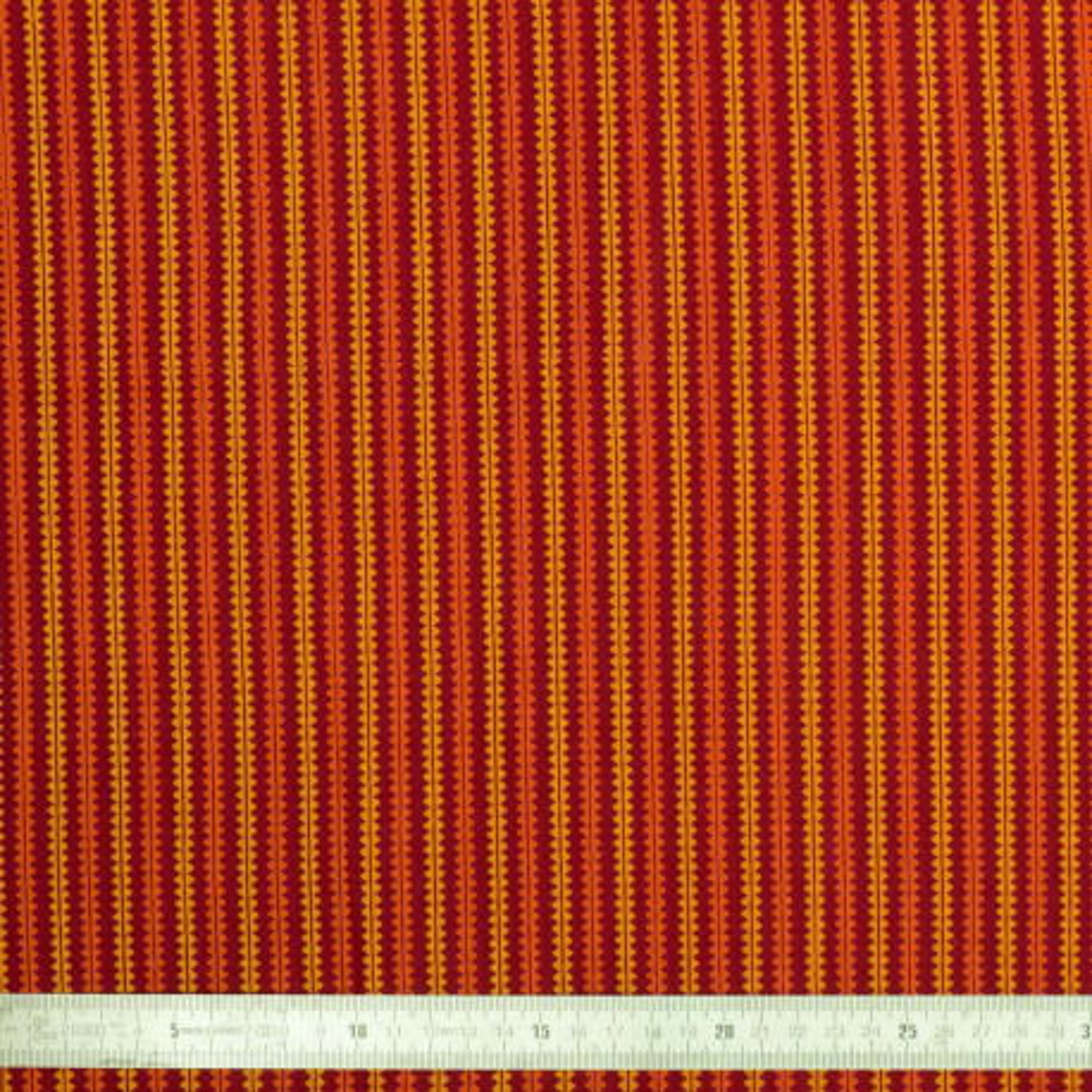 Tissu coton Zigzag rouge