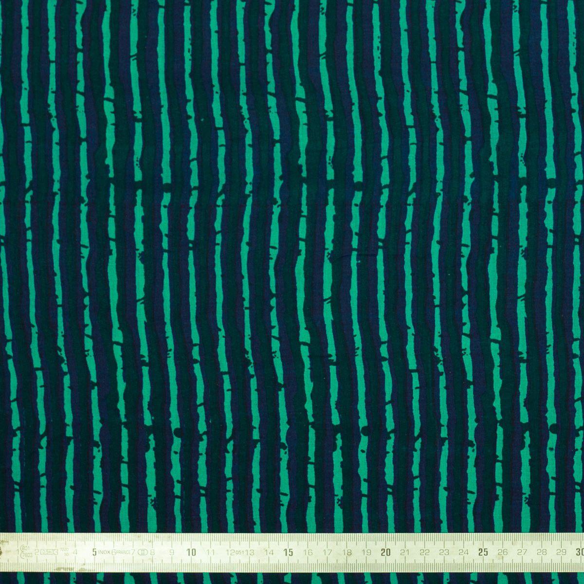 Tissu coton Blue Stripes