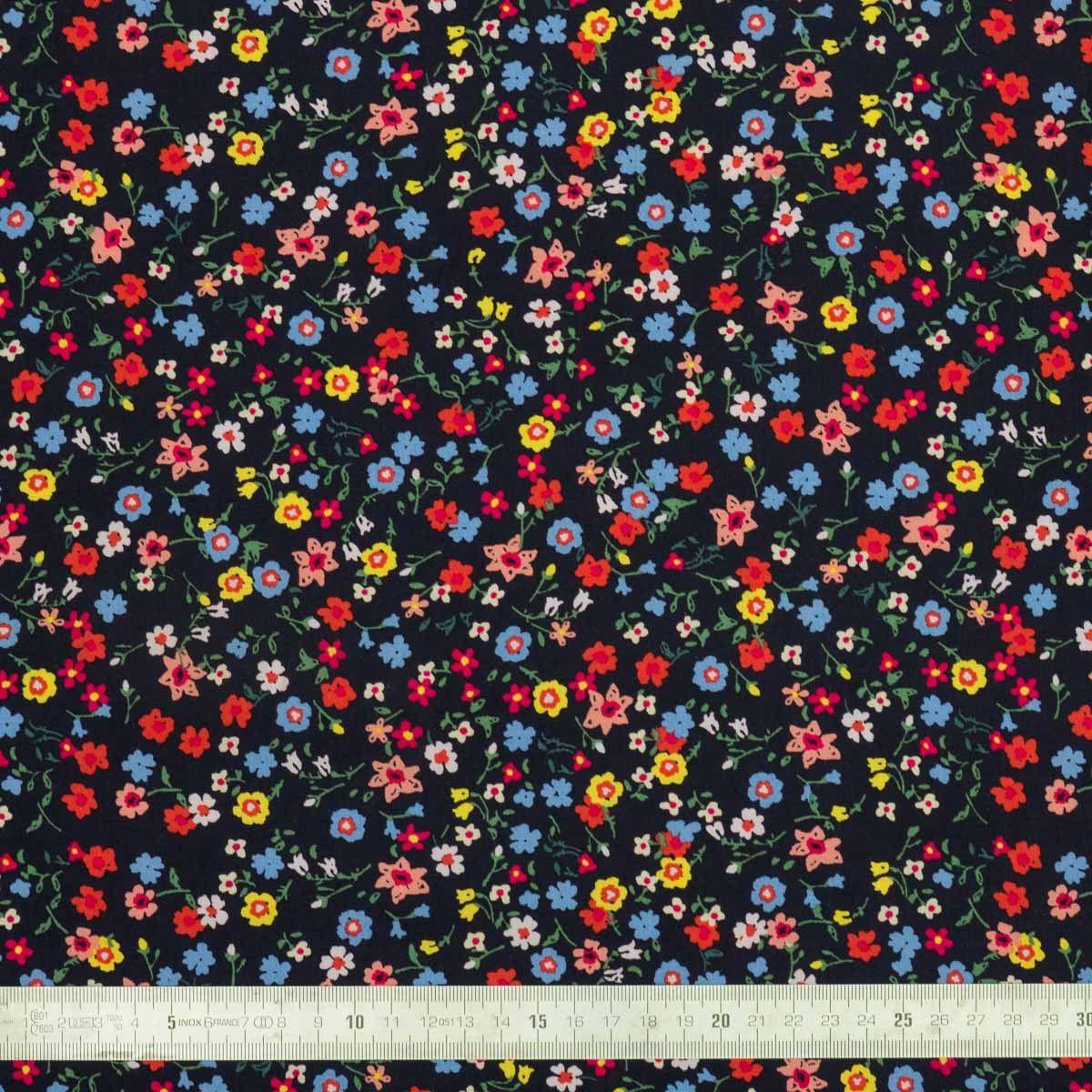 Tissu viscose Bouquets