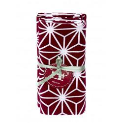 Coupon tissu asanoha prune 2