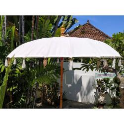 Parasol balinais écru coton diamètre 190cm. Livraison offerte