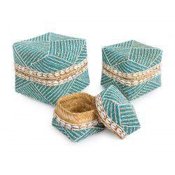 Boites à offrande perles Sulawesi