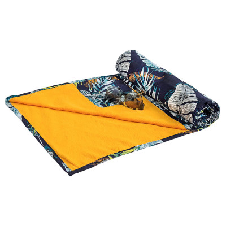 drap de plage coton original Jaune et bleu