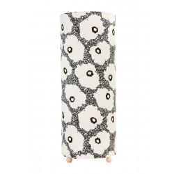 Grande lampe tube à poser coquelicots