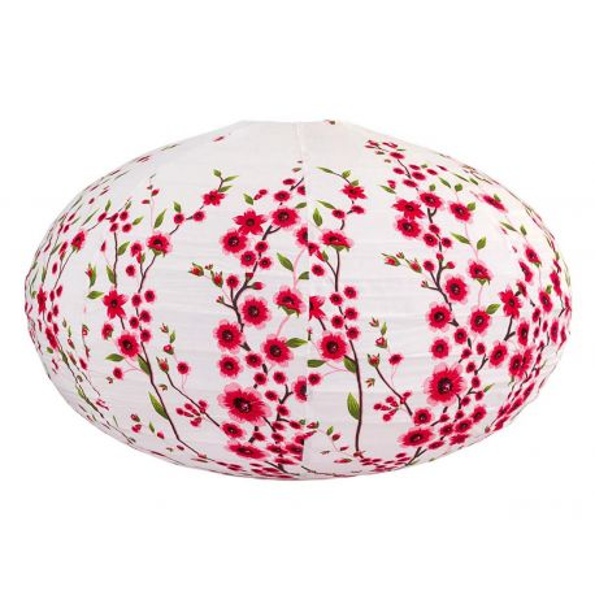 Lampion tissu boule japonaise ovale Liane