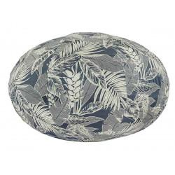 Lampion tissu boule japonaise ovale feuillage jungle