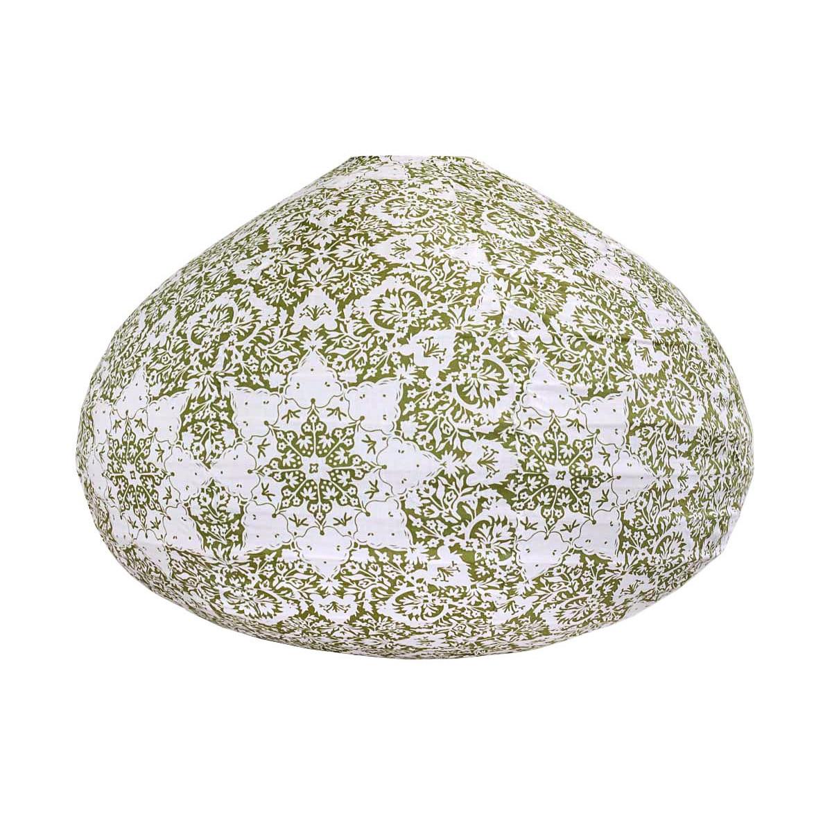 Lampion tissu boule japonaise goutte Jaipur