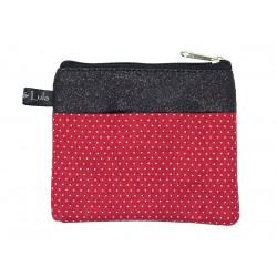 Petit porte-monnaie deux compartiment paillette Red dots