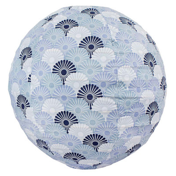 Lampion tissu boule japonaise rond Solas brume