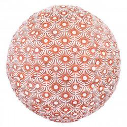 Lampion tissu boule japonaise rond Solas bronze