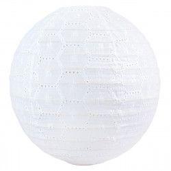 Lampion tissu boule japonaise rond Dentelle