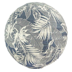 Lampion tissu boule japonaise rond Bornéo