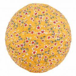 Lampion tissu boule japonaise rond Akiko moutarde
