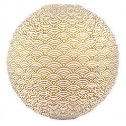 Lampion tissu boule japonaise rond Nami or