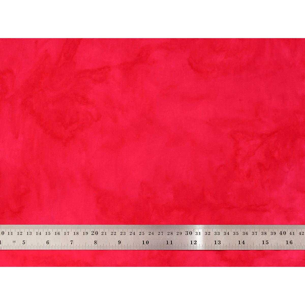 Tissu patchwork batik faux uni rouge