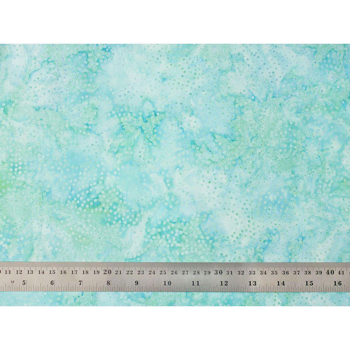 Tissu patchwork bulles menthe