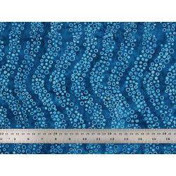 Coton Batik vagues bleues